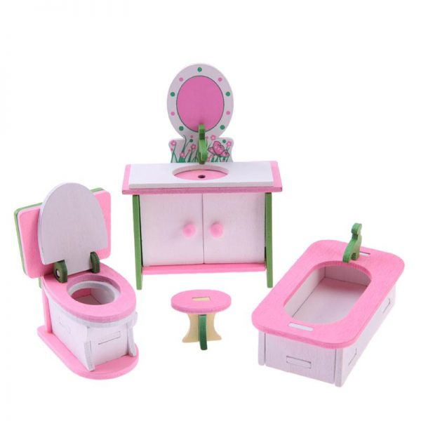 Wooden Dolls House Furniture Toys 2