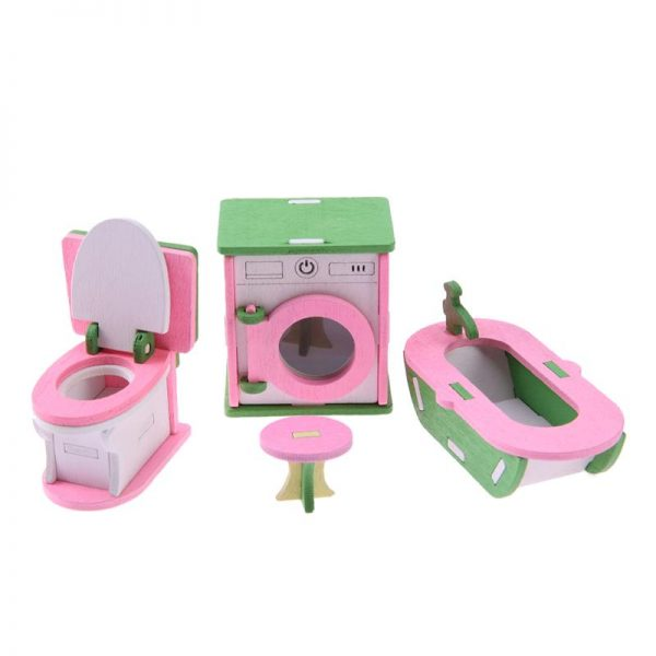 Wooden Dolls House Furniture Toys 3