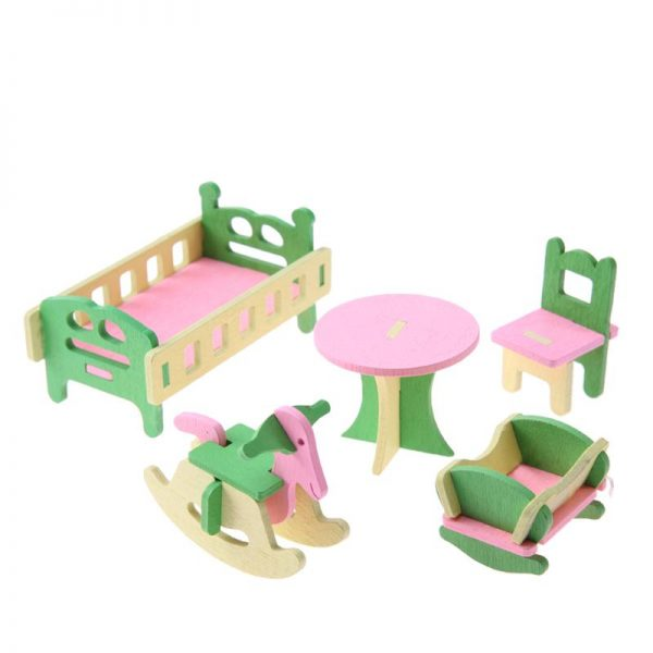 Wooden Dolls House Furniture Toys