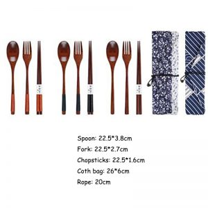 Wooden Fork and Spoon Set