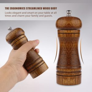 Wooden Pepper Grinder Spice Container