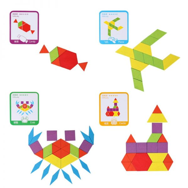 Wooden Puzzles For Kids Creative Toys 155pcs 1