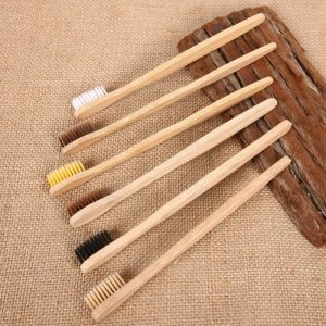 Wooden Toothbrush Bamboo Soft Bristle (10 pieces)