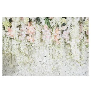 0.9x1.5m 1.5x2.1m 1.8x2.7m White Flowers Sea Photography Studio Wall Backdrop Photo Background Cloth for Birthday Wedding Party