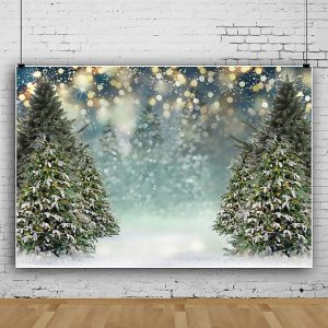 0.9x1.5m 1.5x2.1m 1.8x2.7m Winter Snowflake Christmas Tree Photography Backdrops Glitter Decoration Background Cloth for Studio Photo Backdrop Prop