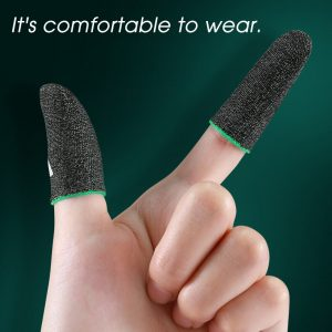 1 Pair Sensitive Breathable Sweatproof E-Sports Touch Screen Thumbs Finger Sleeve for PUBG Mobile Game