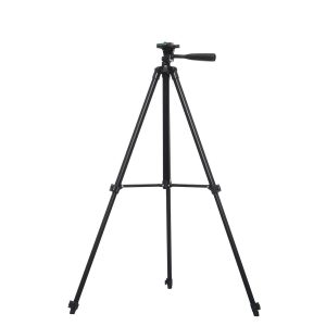 1.3m 3 Sections Aluminum Alloy Tripod Phone Holder With Phone Clip For iPhone Samsung Huawei
