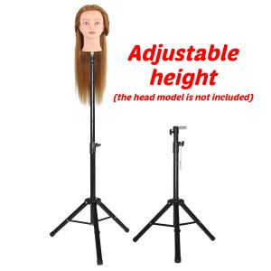 1.56m Height Adjustable Cosmetology Tripod Wig Stand Holder for Doll Head Hairdressing Training
