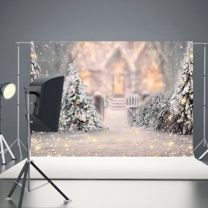1.5x0.9m/2.2x1.5m/2.7x1.8m Christmas Photography Backdrops Snow Scene Background Cloth for Studio Photo Backdrop Prop