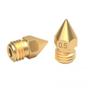 1.75/0.3mm 3D Printer Accessories MK8 Pointed Brass Nozzle with Lettering
