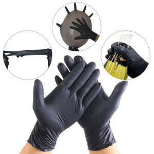 100Pc disposable nitrile gloves tattoo latex dustproof and durable cleaning maintenance tool gloves