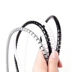 10m Length 8/12mm Diameter Cable Wire Wrap Organizer Spiral Tube Cable Winder Cord Protector Flexible Management Wire Storage Pipe