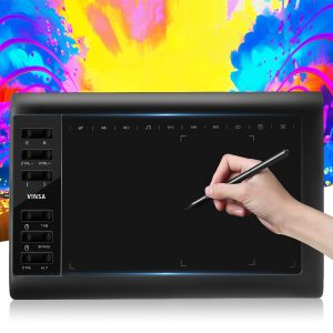 10x6'' Large Screen Graphics Drawing Tablet USB Board Quick Reading Pad W/ Pen