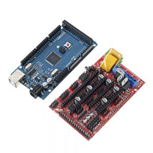 12864 LCD Display + RAMPS 1.4 Mainboard + Mega 2560 R3 Board with USB Cable & A4988 Driver Kit for 3D Printer