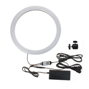 13 Inch RGB Dimmable LED Video Ring Light Selfie Lamp For Camera Makeup Youtube Live