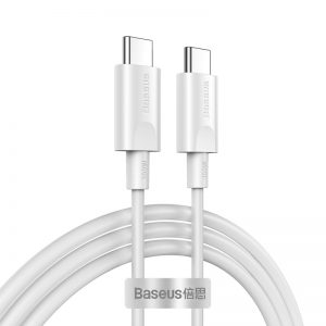 [2 Pack ] Baseus 1.5m/4.92ft 100W 5A PD USB-C to USB-C Cable PD 3.0 QC 3.0 FCP Fast Charging Data Sync Cable Cord For Samsung Galaxy S20 For iPad Pro 2020 MacBook Air 2020 For Nintendo Switch Huawei