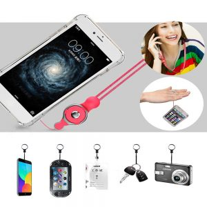 2 in 1 Detachable Universal Phone Ring Holder & Neck Strap Phone Lanyard Work Permit Badge Key Rope for All Smartphone
