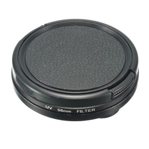 3 in 1 58mm UV Filter Set with Adapter Lens Protector for Gopro Hero 3 Camera