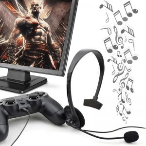 3.5mm Earphone One Ear Gamer Headset Wired Earphone Headphones Gaming Headset with Microphone for PS4 Game PC