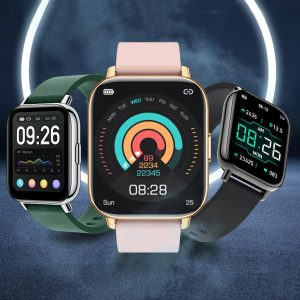 [30Days Standby] Bakeey P32 1.65 inch Touch Screen Heart Rate Blood Pressure Oxygen Monitor Music Player Multi-Sport Modes IP68 Waterproof Smart Watch