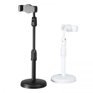 360 Degree Rotation Universal Mobile Phone Holder Clamp Desktop Stand Adjustable Height for Mobile Phone Live Broadcast