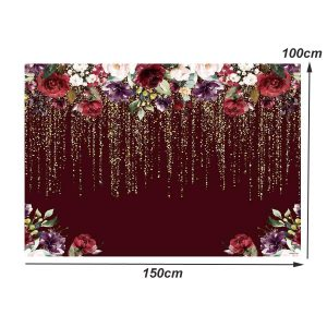 3x5FT 5x7FT Red Rose Flower Photography Background Backdrop Sutido Prop