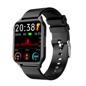 [45 Days Long Standby] Bakeey Q26 1.7 inch Full Screen Touch Body Temperature Heart Rate Blood Pressure Oxygen Monitor 24 Sports Modes BT5.0 Smart Watch