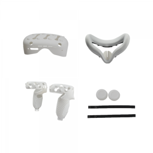 5 In1 Front Cover Eye Mask Pad For Oculus Quest 2 Touch Controller Silicone Grip Skin Thumb Button Knuckle Strap