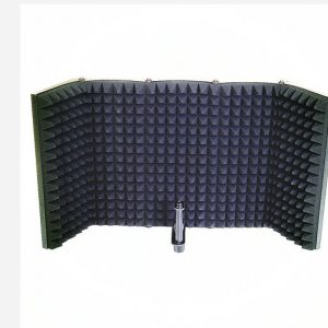 5 Panel Microphone Isolation Shield Foldable Live Stream Studio Recording Absorb