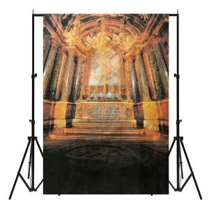 5x7FT Raw Silk Cloth Ancient House Photography Background Studio Backdrop Props
