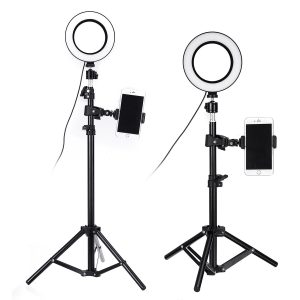 6 Inch Ring LED Live Light Photographic Lamp with Bracket