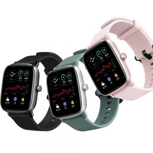 [70+ Sports Modes] Amazfit GTS 2 Mini 1.55inch AMOLED Display 24H Heart Rate Monitor SpO2 Measurement Female Cycle Tracking 50+ Watch Face Smart Watch Global Version