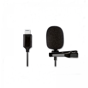 ALTSON AL-M1 Lapel Condenser Microphone for Lightning Mobile Phone for iPhone Portable Lavalier Mic for DV Audio Video Record Clip-on Mic for Smartphone Camcorder