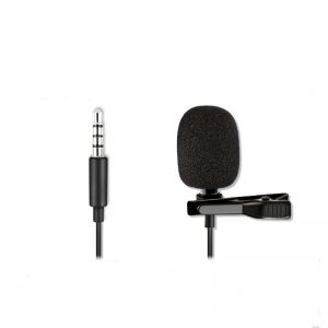 ALTSON AL-M3 3.5mm Lapel Condenser Microphone for iPad PC Mobile Phone Camera Portable Lavalier Mic for DV Audio Video Record Clip-on Mic for Smartphone Camcorder