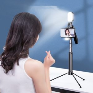 Aluminum Alloy All-in-one Selfie Stick Tripod Phone Video Live Stabilizer Anti-shake Handheld Gimbal For iPhone XS 11Pro Mi 10