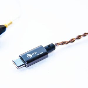 BGVP T01 2.5/3.5mm USB DAC HIFI Audio Amplifier Type-c Micro USB Cable with Adapter Compatible with Cellphone PC Windows OS