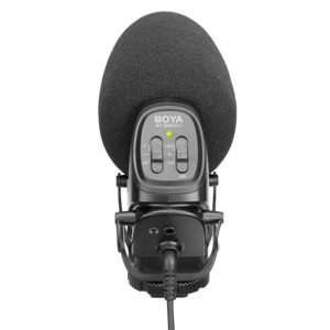 BOYA BY-BM3031 Supercardioid Condenser Microphone Gain Control Low Cut Video Mic for Canon for Nikon DSLR Camera Camcorder Audio Recorder