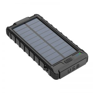 Bakeey 10000mah Solar Charging 10W Wireless Charger LED Light Waterproof Solar Power Bank Case Charger Dual USB External Battery Case