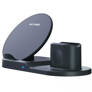 Bakeey 10W 3-in-1 Qi Wireless Charger Fast Charging Holder Stand For iPhone 12 12Pro Huawei P30 P40 Pro