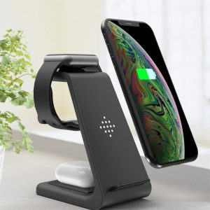 Bakeey 10W 3 in1Qi  Fast Charging Stand Wireless Charger For iPhone 11Pro Xr Xs Max Apple Watch 1 2 3 4 iWatch 5 4 TWS AirPods