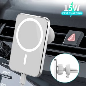 Bakeey 15W Car For Magsafe Wireless Charger Airvent Mount Magnet Adsorbable Phone Car Holder For iphone 12 12 Pro Max 12 Mini Fast Charging