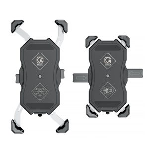 Bakeey 2 in 1 15W Qi Fast Charging Motorcycle Cycling Electric Scooter Vehicle Mobile Phone Holder Bracket Stand