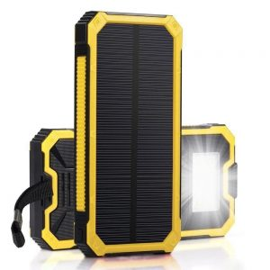 Bakeey 20000mAh DIY Large Capacity LED Light Solar Power Bank Case For iPhone X XS HUAWEI P30 Mate 30 5G Oneplus 7 Mi9 9Pro S10+ Note 10 5G