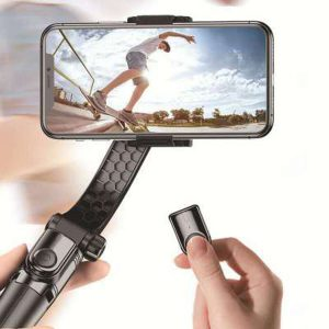 Bakeey A1 450mAh Foldable Handheld Multi-Angle bluetooth Smartphone Gimbal Stabilizer for Samsung Galaxy Note 20 Ultra