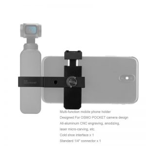 Bakeey Handheld Gimbals Clamp Holder Mount Tripod Bracket w 1/4'' 3-Axis Stabilizer for OSMO POCKET PTZ Mobile Phone Clip Extension PTZ