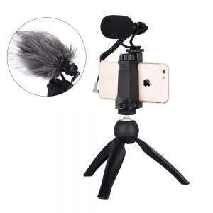 COMICA CVM-VM10-K2 Smartphone Video Rig with Cardioid Directional Video Microphone for iPhone 5 5C 5S 6 6S 7 8