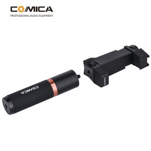 Comica CVM-R2 Smartphone Photography Handle for iPhone for Samsung Huawei Xiaomi Mobile Phone Photo Stick for Vlog Live Broadcast