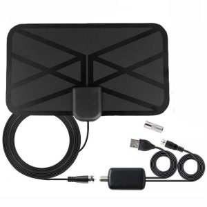 Digital HDTV Antenna Indoor 1500 Miles with Amplifier Signal Booster DVB-T2 ISDB Satellite Dish Receiver TV Aerial
