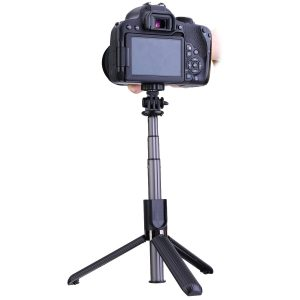 ELEGIANT EGS-06 Black Selfie Stick Tripod Aluminum All in One Extendable Selfie Stick bluetooth with Remote for iPhone for Samsung Mobile Phone for Gopro Camera