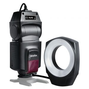 Godox ML-150 Macro Ring Flash Speedlite Guide Number 10 with 6 Lens Adapter Rings for Canon/Nikon/Pentax/Olympus/Sony Cameras